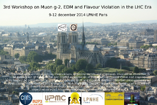 3rd Workshop on Muon g-2, EDM and Flavour Violation in the LHC Era