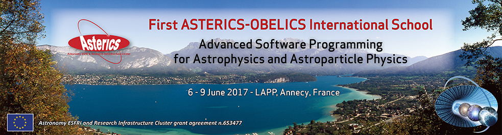 Advanced software programming for astrophysics and astroparticle physics