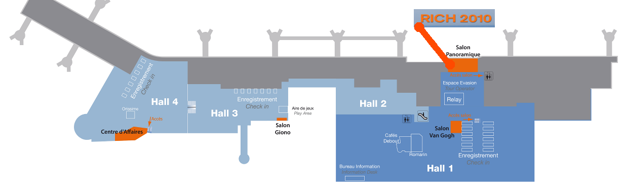Airport map to Salle Panoramique